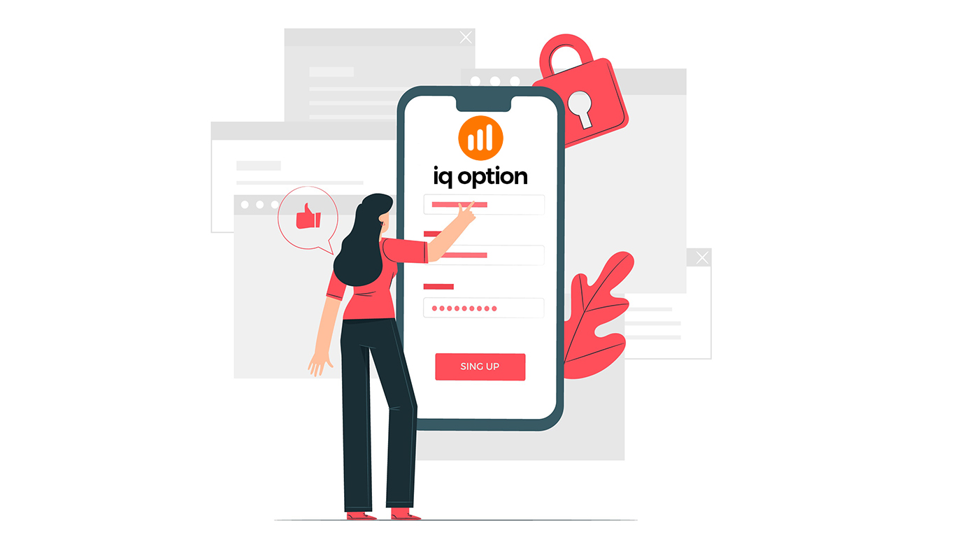 Comment s'inscrire et se connecter à un compte dans IQ Option